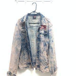 Men's Vintage Hudson Jean Jacket with Patches XXL